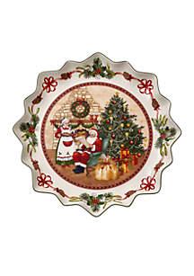 Toy\u2019s Fantasy Santa\u2019s Stable Deep Pastry Plate