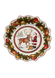Toy\u2019s Fantasy Feeding the Reindeer Large Bowl