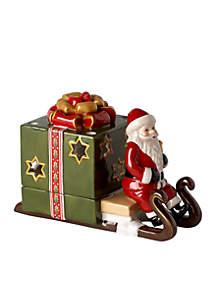 Green Sleigh with Santa