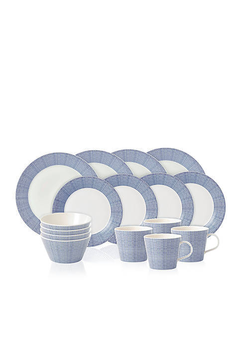 Royal Doulton Pacific Dots 16-pc. Dinnerware Set