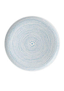 Ellen DeGeneres ED ELLEN DEGENERES CRAFTED BY ROYAL DOULTON Polar Blue Dots Serving Platter