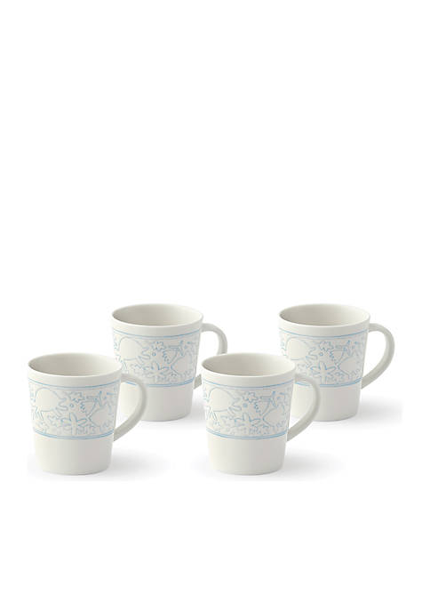 ED ELLEN DEGENERES CRAFTED BY ROYAL DOULTON Polar Blue Mug, Set of 4
