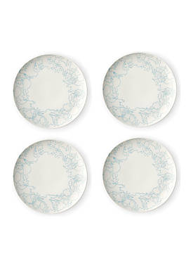 ED ELLEN DEGENERES CRAFTED BY ROYAL DOULTON Polar Blue 8-in. Plate, Set of 4
