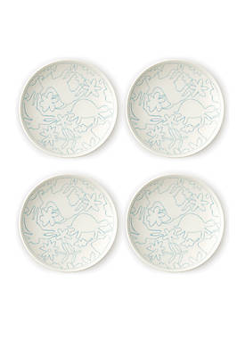 ED ELLEN DEGENERES CRAFTED BY ROYAL DOULTON Polar Blue 6-in. Plate, Set of 4