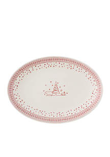 ED Ellen Degeneres Crafted By Royal Doulton Holiday Accent Oval Platter