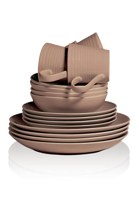 Royal Doulton Gordon Ramsay Maze Taupe 16-Piece Dinnerware