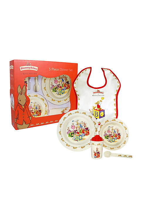 Royal Doulton Bunnykins Melamine 5-Piece Dinner Set