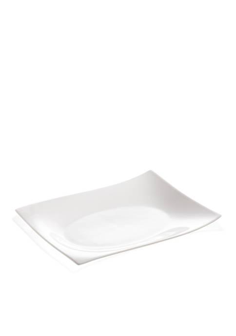 Maxwell & Williams White Basics Motion Rectangular Platter