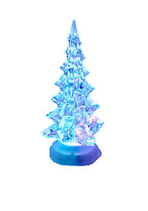 10-in. Battery Operated Acrylic Lighted Christmas Tree