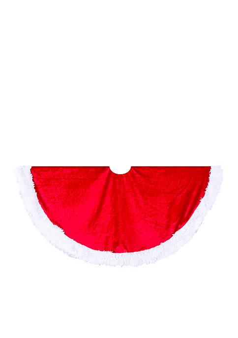 Kurt S. Adler Red Velvet Tree Skirt with