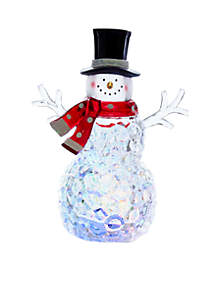 Battery-Operated Multicolored LED Snowman Tabletop