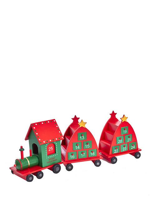 Kurt S. Adler 6.5 Inch Train Advent Calendar,