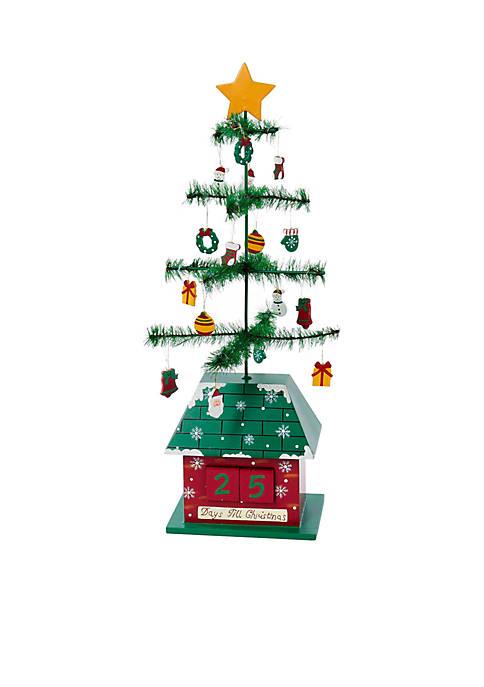 "Kurt S. Adler 17"" Christmas Tree Calendar with"