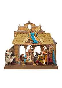 Wooden Nativity Table Piece Set