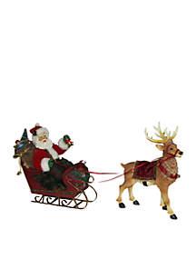 Santa in Sleigh with Deer
