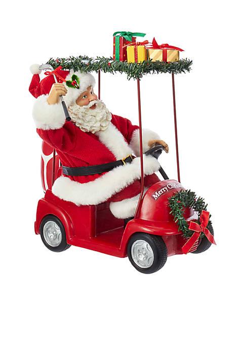 Kurt S. Adler Fabriché Santa Driving Golf Cart