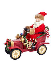 Musical Vintage Santa in Car