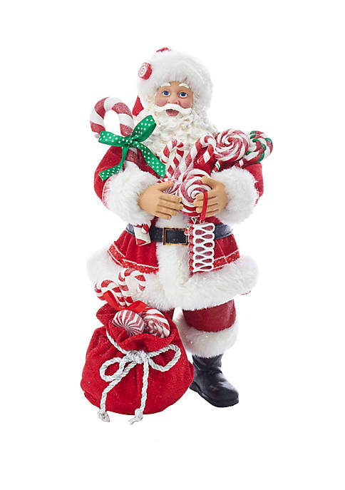 Kurt S. Adler Fabriche Santa With Christmas Candy