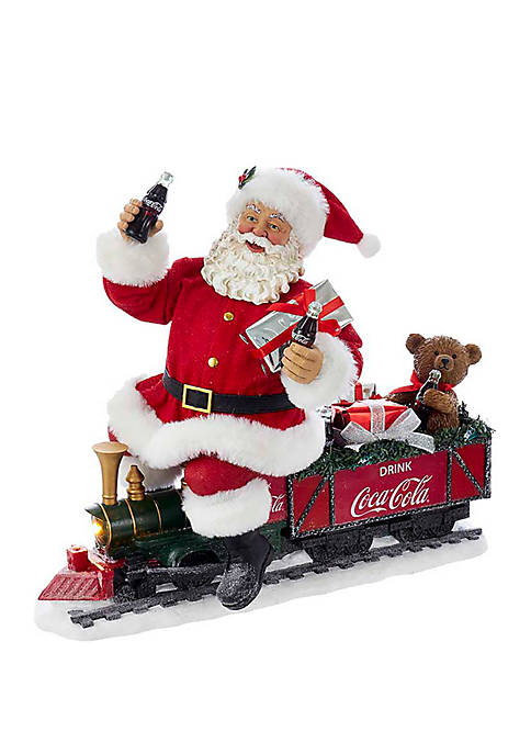 Kurt S. Adler Coca-Cola Santa Train with LED
