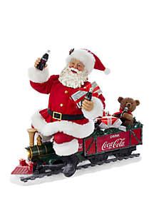 Coca-Cola Santa Train with LED Garland
