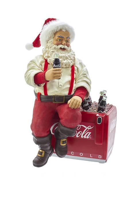 Kurt S. Adler Coca-Cola® Santa Sitting on Cooler