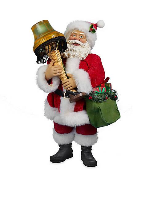 Kurt S. Adler Leg Lamp Fabriche Santa With