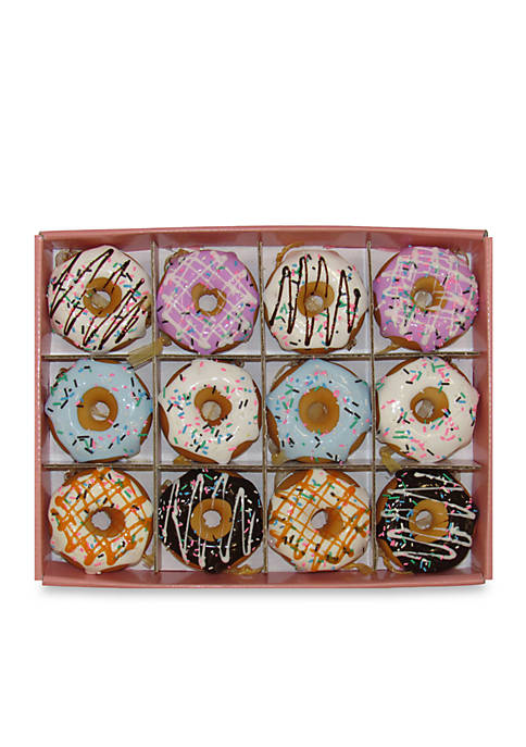 Kurt S. Adler Set of Twelve Donut Ornaments