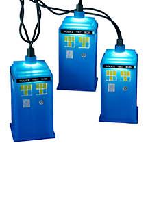 UL 10-Light Doctor Who Blue Tardis Light Set