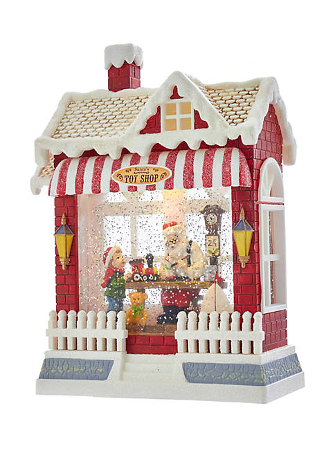 Kurt S. Adler Battery-Operated Water Lantern with Santa