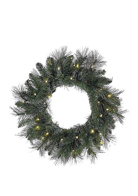 """Kurt S. Adler 24"""" Battery-Operated Green LED Wreath"""