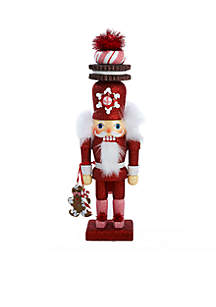 Hollywood Red Gingerbread Nutcracker with Cookie Hat