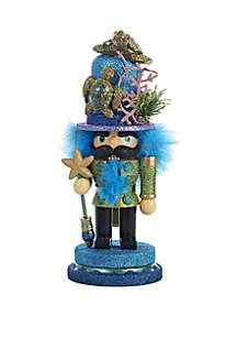 11\u201d Hollywood Nutcracker with Sea Turtle Hat
