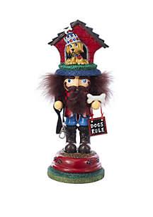 13'' Hollywood Doghouse Hat Nutcracker
