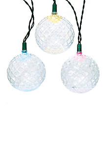 Battery-Operated Set of Eight Round Ball Twinkle Lights