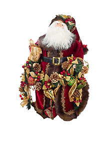 23-in. Fabric Decorated Santa Tablepiece
