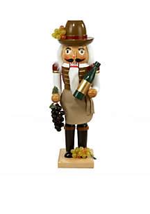 Wooden Wine Grower Nutcracker