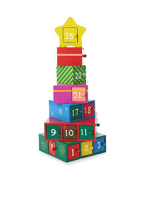 Kurt S. Adler Wooden Gift Tree Advent Calendar