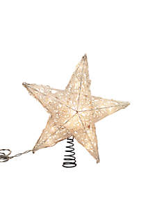 UL Approved Spun Acrylic Look Plastic Star Treetop