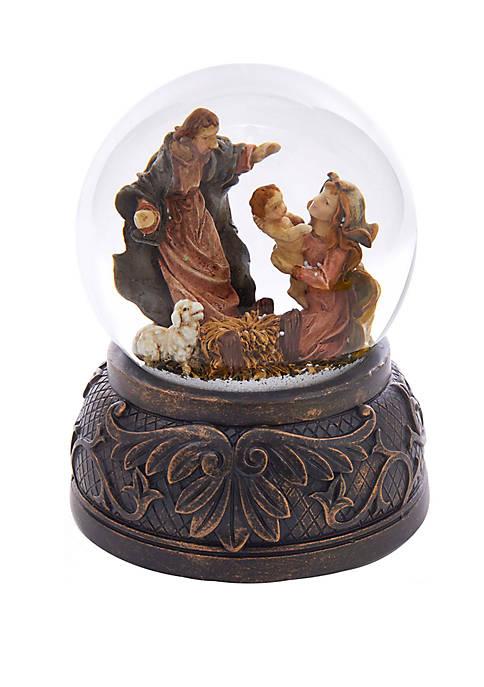 Kurt S. Adler Holy Family Musical Water Globe
