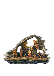 9 in Nativity Grotto Scene LED Table piece