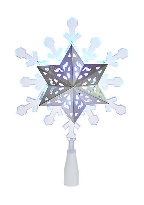 Kurt S. Adler Blue and White LED Rotating