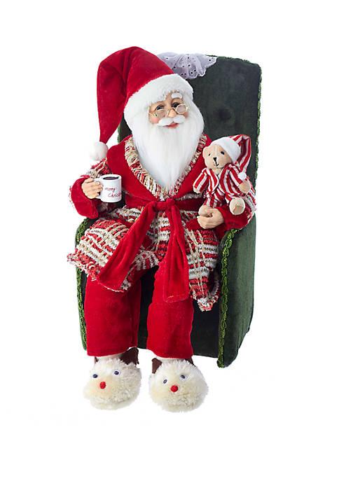 Kurt S. Adler Kringle Klaus Santa in Pajamas