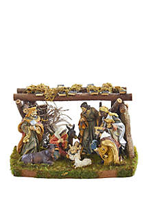 Nativity Set with 9 Figures and Stable