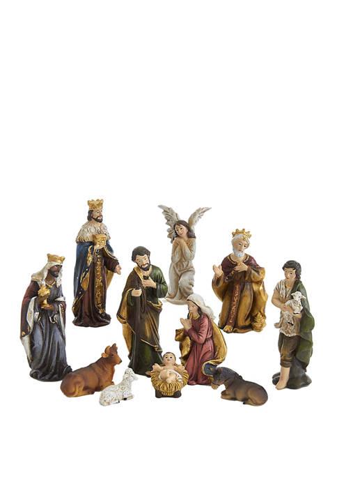 Kurt S. Adler 3.25 Inch Resin Nativity Figurine,
