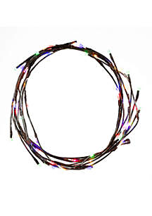 LED Multi-Colored Twinkle Brown Garland