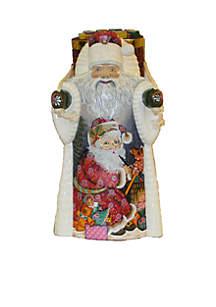 Czar Treasures Wooden Santa with Backpack
