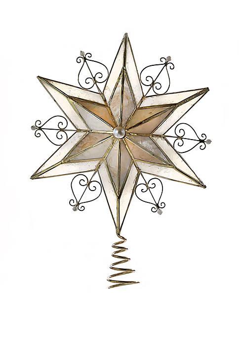 Kurt S. Adler Capiz Scroll Star Treetop