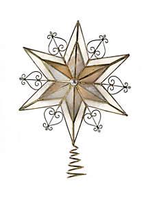 Capiz Scroll Star Treetop