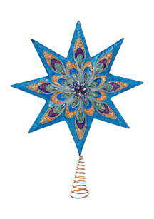 16.5-in. 8-Point Peacock Star Treetop