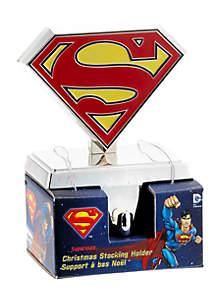 Silver Superman Logo Stocking Hanger